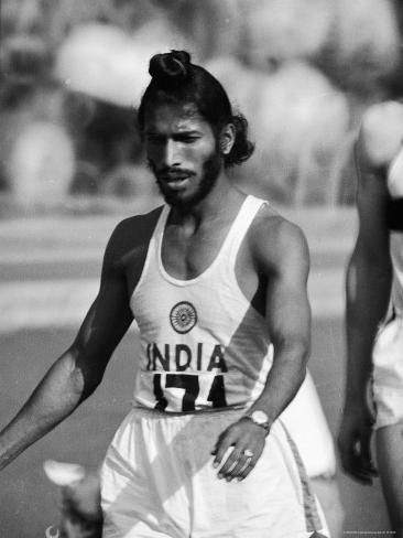 Indian Olympic Sprinter Milkha Singh at the 1960 Olympics, Rome, Italy by George Silk