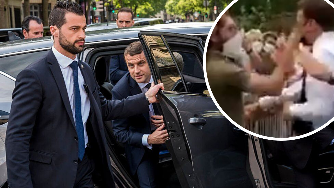 France President Emmanuel Macron Slapped By A Man Right In The Face
