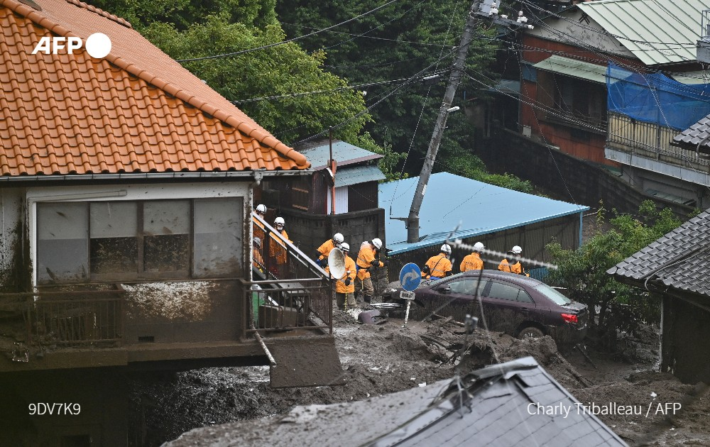 At least two killed and 20 missing after a landslide hit Atami, Japan